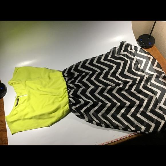 Maurices Dresses & Skirts - yellow black white chevron pattern high low dress
